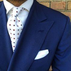 "violamilano: ""@danielmeul from @pauwmannen wearing a Viola Milano ""White Multipattern"" silk tie… Jacket by Cesare Attolini & Shirt by @finamore1925 Buy it online today! www.violamilano.com #vm..."