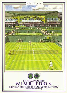 Cartel Wimbledon 2002 Tennis Rules, Tennis Tips, Wimbledon Tennis, Tennis Party, Lawn Tennis, Tennis Posters, Minimalist Graphic Design, Tennis Serve, Tennis Legends