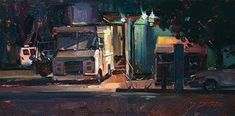 Produce Truck - 6x12 - oil - plein air