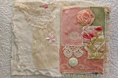 A lovely fabric journal created by Suzanne Duda.