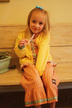 Matilda Jane top and ruffles