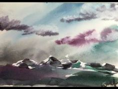 Watercolor Mountain Landscape Demonstration - YouTube