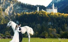 Taiwanese singer Jay Chou released wedding photos on his Facebook page Saturday.   The pre-wedding photos show Chou and model Hannah Quinlivan posing lovingly in different locations in Europe.