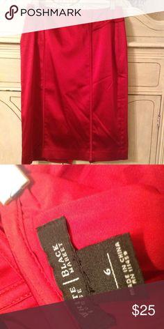 White House Black Market skirt Satiny red WHBM pencil skirt. Beautiful, worn only once. White House Black Market Skirts Midi
