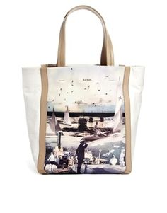 Paul Smith Collage Print Tote Bag