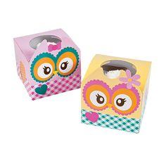 You're A Hoot Cupcake Boxes - OrientalTrading.com