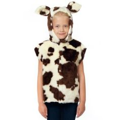 Cow Costume for kids. One Size Years. Cow Costume for children. Outfit includes T-Shirt style top with attached hood and tail. Animal Costumes, Baby Costumes, Cosplay Costumes, Children Costumes, Donkey Costume, Crow Costume, Boys Christmas Outfits, Christmas Costumes, Nativity Costumes
