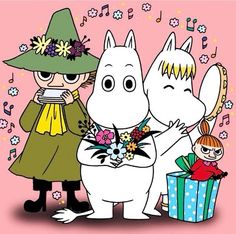 Happy New Year from Moomin : Photo Little My Moomin, Les Moomins, Tove Jansson, Moomin Valley, Kawaii Anime, Cute Art, Cartoon Characters, Illustrators, Childhood