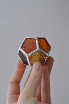 John Keats Bright Star dodecahedron platonic solid by ABJglassworks on Etsy