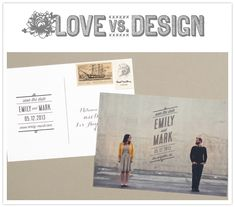 these save the dates seem totally diy-able (I especially like the white print on blue sky further down on the page)