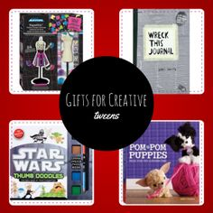 Gifts for Creative Tweens Gift Guide - Tweenhood Holiday Gift Guide, Holiday Gifts, Pom Pom Puppies, Wreck This Journal, Promote Your Business, Business Website, Tween, Promotion, Web Design