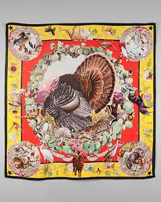 "Some of you have to get in on this: Hermes ""Faune et Flore du Texas"" by Kermit Oliver Silk Scarf"