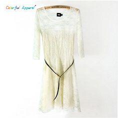 2016 vestido de renda Pierced Lace Solid Color vestidos verao Tight Dress Fashion Clothes Women's Lace Dress robe