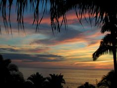 Just one of the many colorful sunsets - San Pancho, Mexico