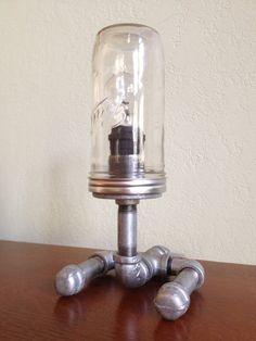 Industrial Iron Pipe Desk Lamp Three Way by CetiAlphaVDesign