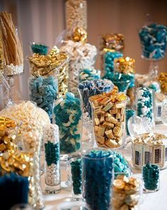 Candy Buffet Containers, Candy Jar, Vintage Glass Candy Containers, Candy Bar, Food Display Sold individuallyFound By Foo Foo La La Glass Candy, Candy Jars, Bulk Candy, Candy Bar Wedding, Wedding Favors, Wedding Table, Wedding Ideas, Wedding Cakes, Wedding Sweets