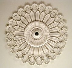 Minard Lafever inspired ceiling medallion in 1838 Jay Drawing room (Rye, NY)