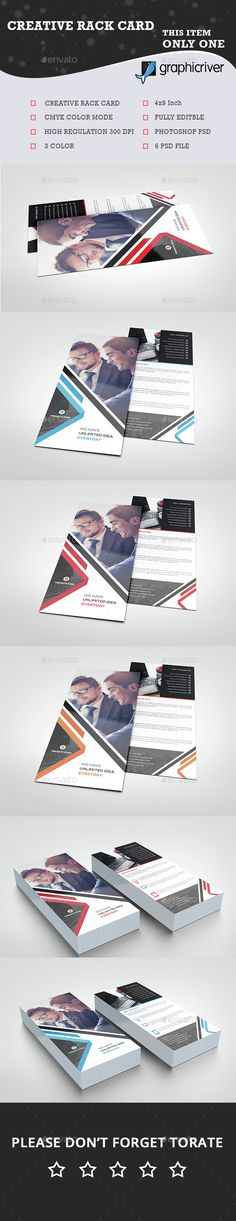 Rack Card DL Flyer Design v3 | Pinterest | Flyer template, Template ...
