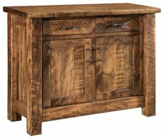 Amish Houston Buffet Have a Houston built in rich rustic wood for a stunning storage piece. Tuck away the special items for family meals and gatherings in this beautiful buffet built in Amish country. #buffet #diningroom