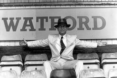 1991: Sir Elton John pictured at Watford Football Club. He remained president after selling the club in 1987, but later bought it again.