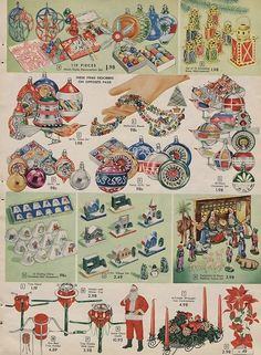 1957 Sears Canada Christmas Catalogue Page Old Time Christmas, Old Christmas, Old Fashioned Christmas, Antique Christmas, Retro Christmas, Christmas Photos, Christmas And New Year, Christmas Holidays, Canada Christmas