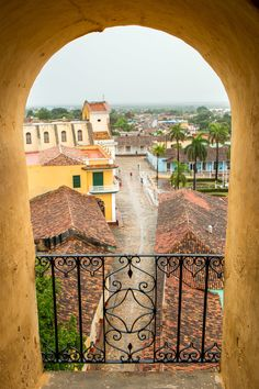 San Francisco de Asis, Trinidad, Cuba - Plaza Mayor and the historical centre of Trinidad from the top of San Francisco de Asis church. A great place with spectacular views across this world heritage Cuban town.
