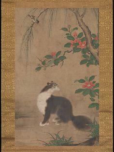 麝香猫図 Uto Gyoshi (Japan, active second half of 16th century). Musk Cat, Muromachi period. The Metropolitan Museum of Art, New York.  Mary Griggs Burke Collection.