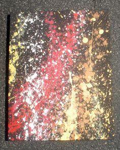 DIY Jackson Pollock painting #art #abstract