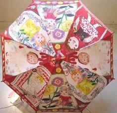 """Nathalie Lete: parapluie """"poupées"""" parapluie édité par MUCHACHA,Japon. 'Dolls' umbrella for MUCHACHA, Japan"""