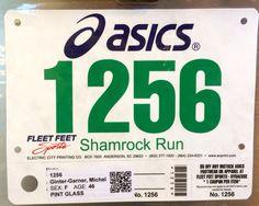 3rd 4M - SHAMROCK RUN.  March 8, 2014.  Tipperary Hill, Syracuse, NY.  Time 43:34min (10:54). Fleet Feet Sports, Running Bibs, Asics, March, Mac