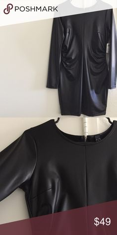 🆕 Slinky • Black Bodycon Long Sleeve Dress New with tags. Back zip, black bodycon dress, flattering waist. Hot on! Slinkier fabric - not the kind of faux leather that'll feel thicker on you. WINDSOR Dresses Long Sleeve