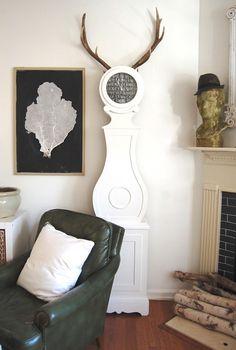 DIY- Grandfather Clock Make-Over AFTER {{horned clock}}