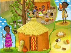 Praatplaat Afrikaans dorpje