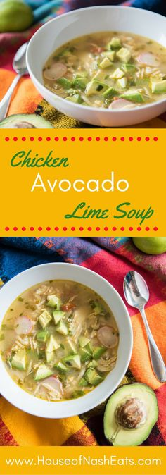 So full of shredded chicken, chunks of avocado, bites of radish, and amazing lime and cilantro flavors, this super satisfying Chicken Avocado Lime Soup is one of my all-time favorites. Oh, and it's Whole 30 compliant.