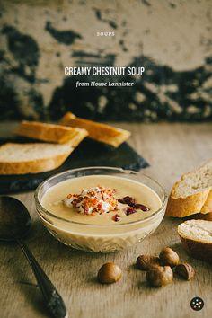 Creamy Chestnut Soup with Bacon Cream | Pepper.ph