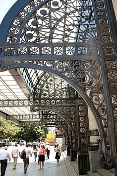 Wrought Iron canopy at the main entrance of the Teatro Colón, Buenos Aires. Beautiful Places To Visit, Places To See, Central America, South America, Scenic Photography, Night Photography, Landscape Photography, Argentina Travel, Largest Countries