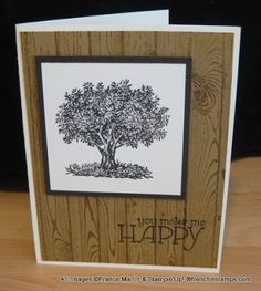 Stamp & Scrap with Frenchie: Hardwood and Look up to Father Stampin'Up! Stamp sets