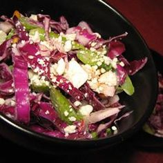 Red Cabbage-Asparagus Salad with Tahini Dressing Allrecipes.com