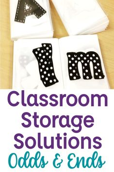 Finding storage solutions for all of the little things in classroom can be overwhelming and leave your classroom feeling messy and disorganized. These classroom storage ideas are quick and cheap. Come read how I store my bulletin board letters, bulletin board borders, task cards, and more! These teacher organization hacks use every day items (most from Dollar Tree) to keep my classroom neat and organized! 2nd Grade Teacher, 3rd Grade Classroom, Middle School Classroom, Second Grade Math, First Grade Reading, Classroom Borders, Classroom Design, Classroom Decor, First Year Teachers
