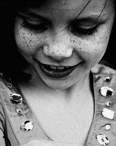 smiling freckles