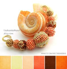 Art Bead Palette :: Orange, Peach, Copper, oh my!