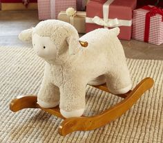 Shop lamb rocking horse from Pottery Barn Kids. Find expertly crafted kids and baby furniture, decor and accessories, including a variety of lamb rocking horse. Lamb Nursery, Nursery Room, Bedroom, Nursery Rocker, Holidays With Kids, Baby Furniture, Pottery Barn Kids, Baby Love, Baby Baby
