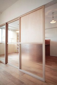Wood Room Divider - Get the Look You Want in Your Home - Room Divider Ideas - Interior Architecture, Interior And Exterior, Interior Doors, Windows And Doors, Front Doors, Sliding Doors, Office Interiors, Door Design, Design Design