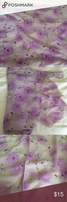 Beach wrap. Purple floral beach wrap. Approximately 48 inches wide. Accessories