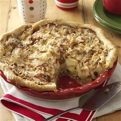 Apple Jack Crumb Pie Recipe from Taste of Home