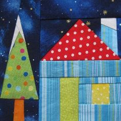 The best house quilt block patterns create a sense of nostalgia and comfort when presented on a quilt pattern, and this lovely paper piecing pattern will do just that.