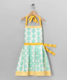 Take a look at this Brigitta Apron - Kids by Whim on #zulily today! Such an adorable apron...there is even a matching one for me