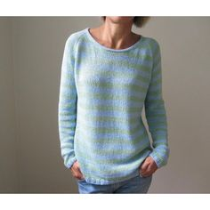 The sky is the limit with this basic, easily customizable piece. It is knit seamlessly from the top-down in a dk weight yarn. While the pattern is detailed for 6-row stripes in 2 colours, it could easily be made in a solid colour or a different stripe pattern. It is meant to be worn with some positive ease, but how much is entirely up to you. It has waist shaping, so it's shapely