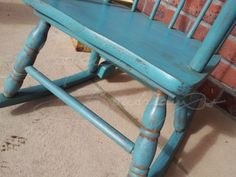 have the chair...now how to paint it?  distressed: painted in custom blend of Annie Sloan's Chalk Paint w/ dark wax