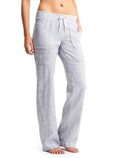 Stripe Linen Pant - As the weather gets warmer, this relaxed, wide-leg linen style is ideal for everything from days on the beach to nights on the town.